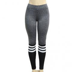 Elastic Striped Fitness Leggings