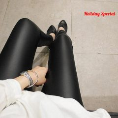 Women's Faux Leather Leggings Holiday Special