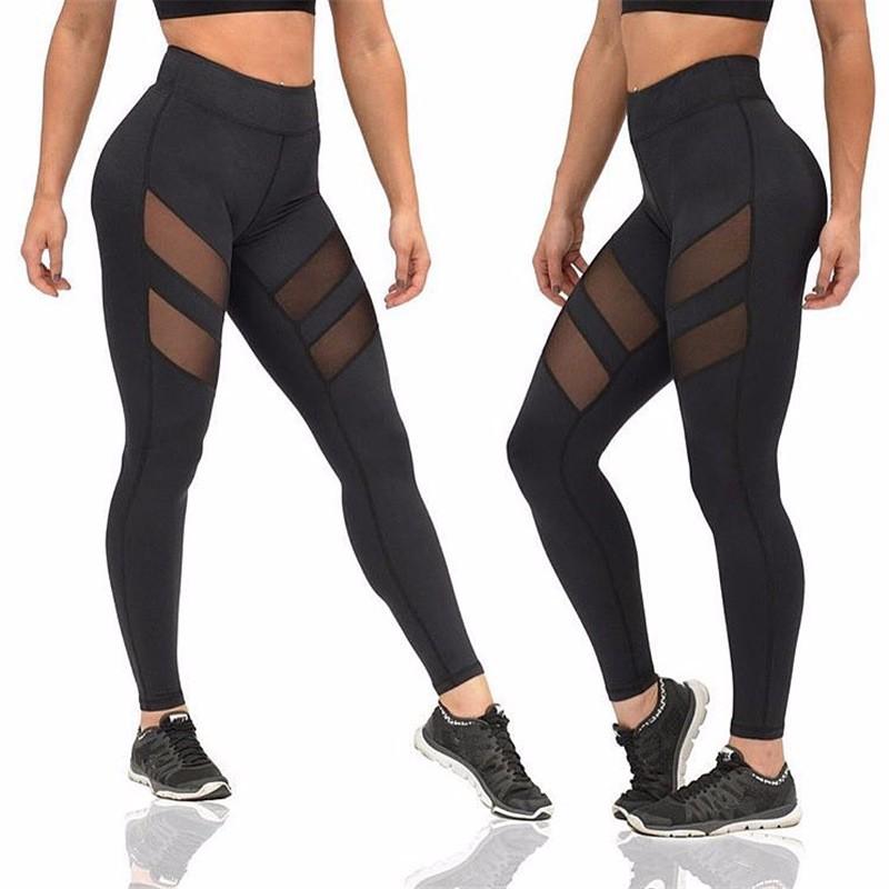 Fitness Push Up Mesh Leggings