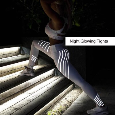 Noctilucent Women's Workout Leggings, Women's Leggings Women Fitness Night Glowing Leggings