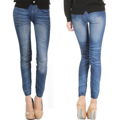 Comfortable Skinny Pants Denim Legins Women Fashion Sexy Women Jean Skinny Leggings Stretchy Slim Leggings