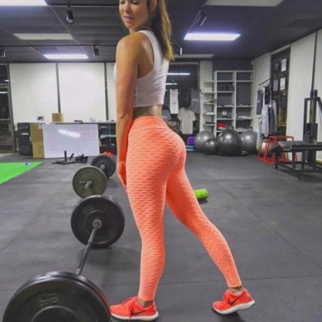 Women's High Waist Fitness Leggings, Fashion Push Up  Spandex Pants, Workout Leggings 3