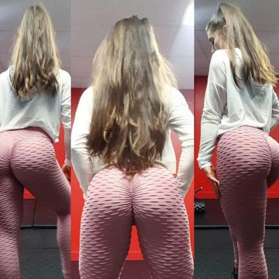 Women's High Waist Fitness Leggings, Fashion Push Up  Spandex Pants, Workout Leggings