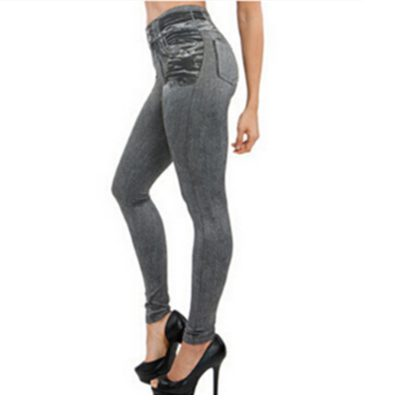 Leggings Jeans, Women's Denim Pants,Fake Pocket Leggings
