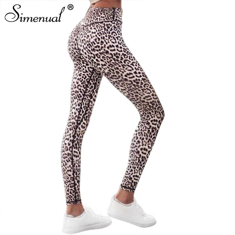 High Waist Leopard Leggings, Women's Casual Legging 9