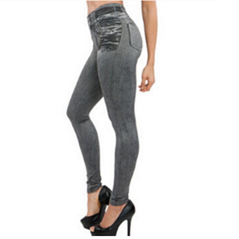 Leggings Jeans, Women's Denim Pants, Pocket Leggings 7