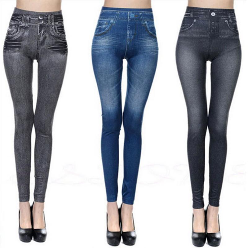 Leggings Jeans, Women's Denim Pants, Pocket Leggings 4