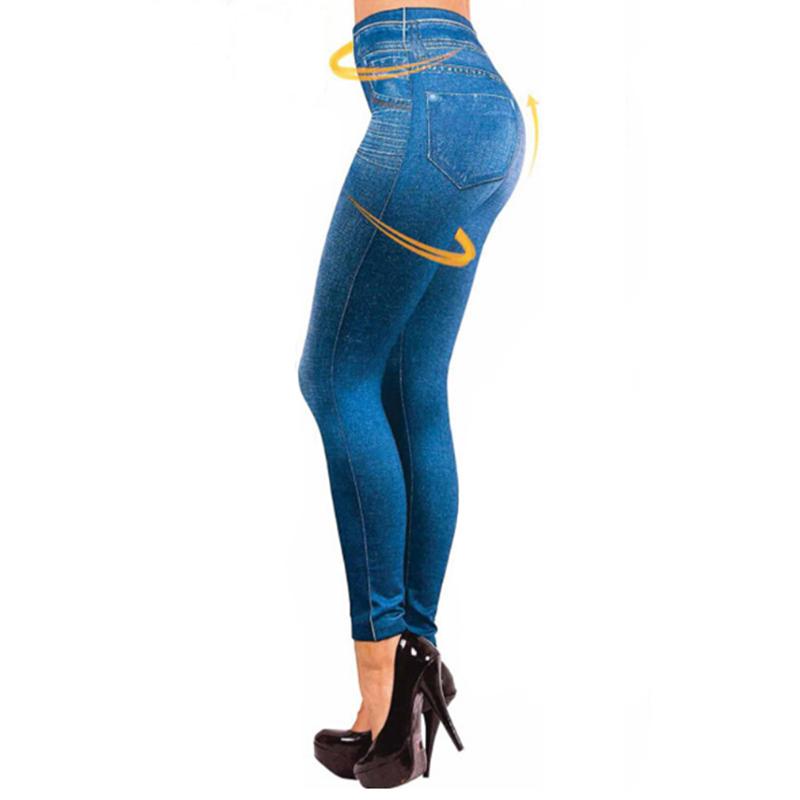 Leggings Jeans, Women's Denim Pants, Pocket Leggings 6