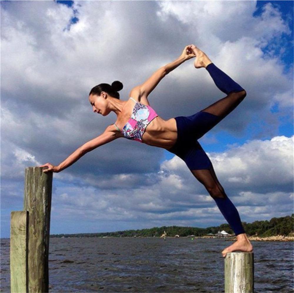 Casual Leggings Women Fitness Leggings Color Block Workout Pants New Arrival Mesh Insert Leggings 17