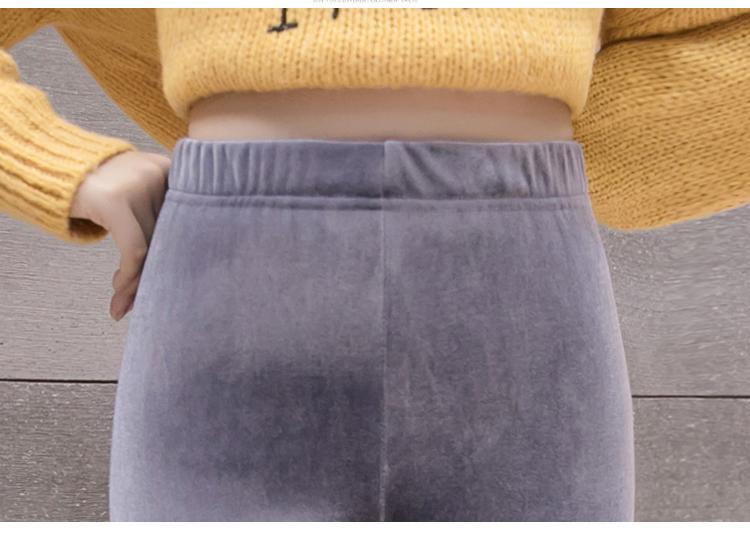 New Velour Thin Women's Leggings, Solid Color, High Waist Fashion Leggings 30