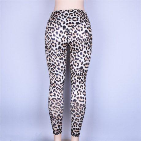 High Waist Leopard Leggings, Women's Casual Legging 3