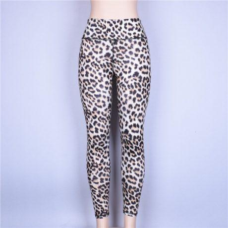 High Waist Leopard Leggings, Women's Casual Legging 2