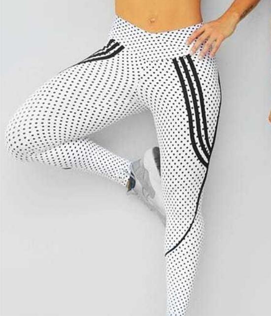 2 Styles, Women's Spot Printing , High Waist Leggings, Sportswear Elastic Force Leggings 15