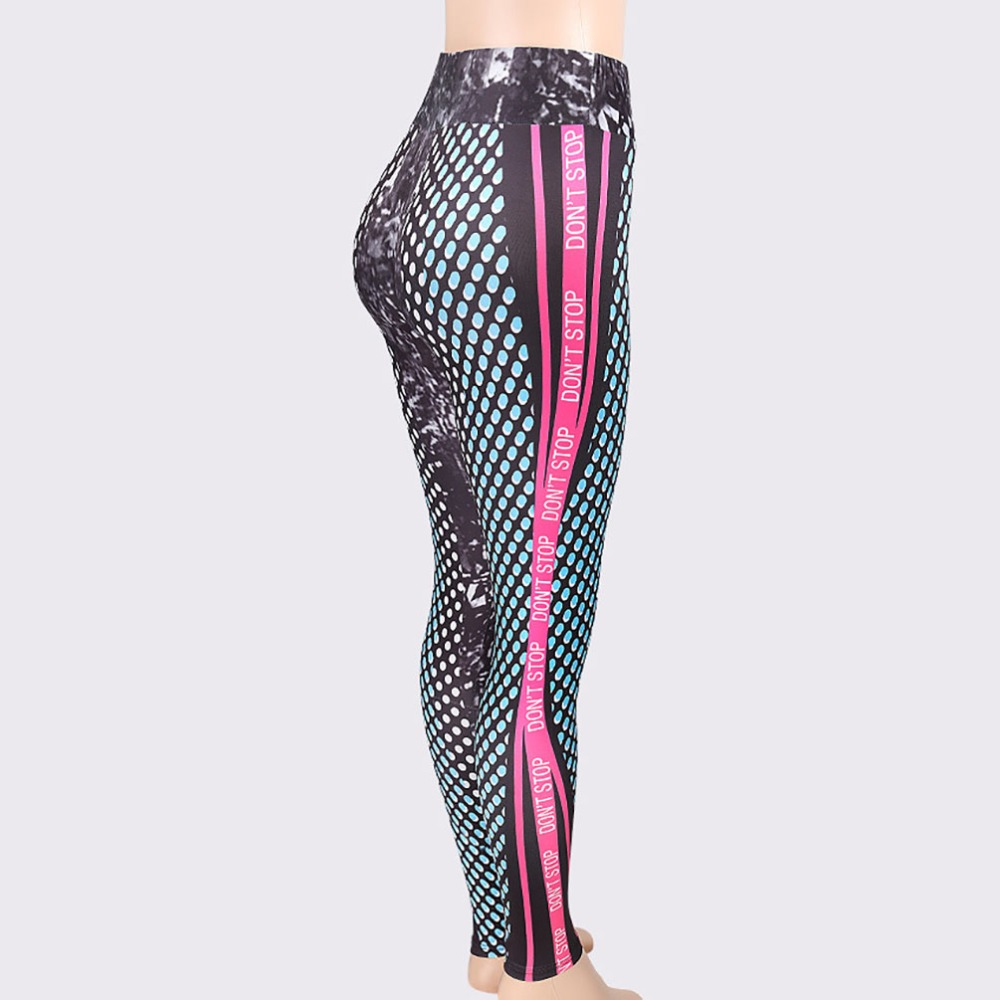 New Honeycomb Letter Printed Women's Fitness Leggings, High Waist, Elastic Push Up Legging Workout Leggings 18