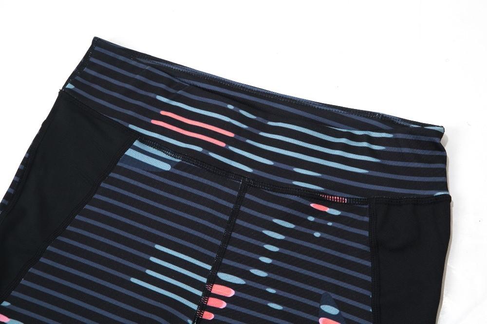 New Sport Suit Print Fitness Suit Leggings Breathable Yoga Set 2 Piece Zipper Sportswear T-shirt Sport Pants Tracksuit For Women 20