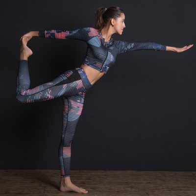 New Sport Suit, Print Fitness Suit Leggings, Yoga Set, 2 Piece Zipper Sportswear, T-shirt Sport Pants, Tracksuit For Women