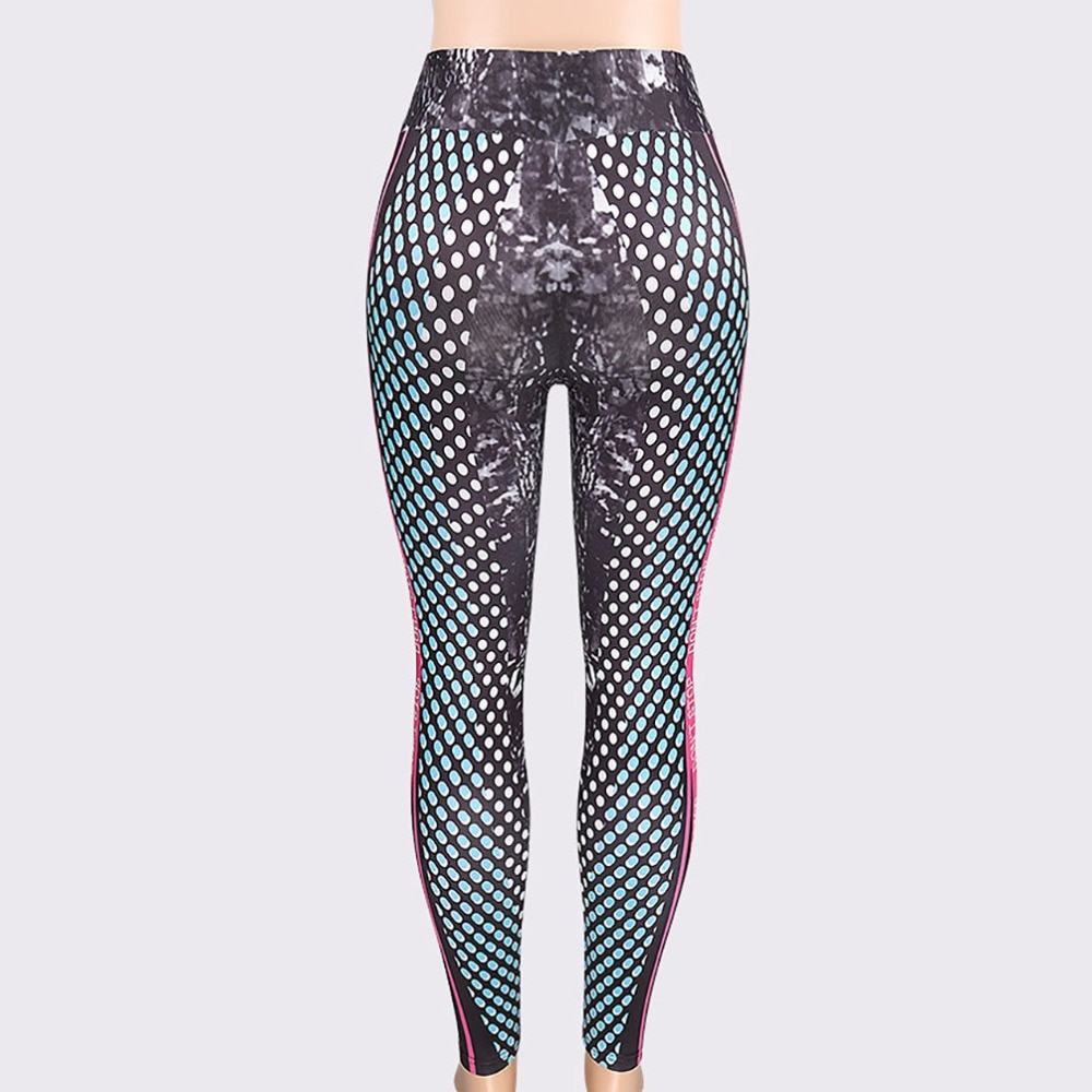 New Honeycomb Letter Printed Women's Fitness Leggings, High Waist, Elastic Push Up Legging Workout Leggings 16