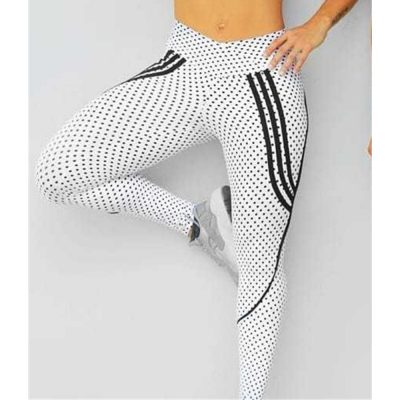 2 Styles, Women's Spot Printing , High Waist Leggings, Sportswear Elastic Force  Leggings