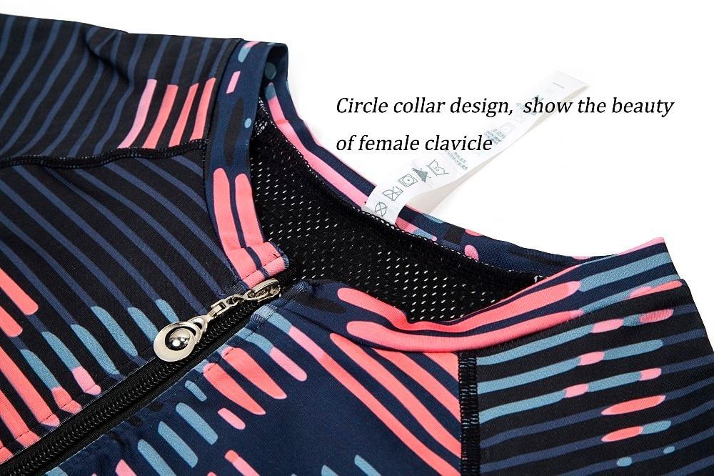 New Sport Suit Print Fitness Suit Leggings Breathable Yoga Set 2 Piece Zipper Sportswear T-shirt Sport Pants Tracksuit For Women 15