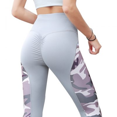 Leggings Women's Polyester Camouflage Push Up Leggings, Fitness Pants, Workout Activewear Clothing