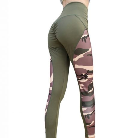 Leggings Women's Polyester Camouflage Push Up Leggings, Fitness Pants, Workout Activewear Clothing 4