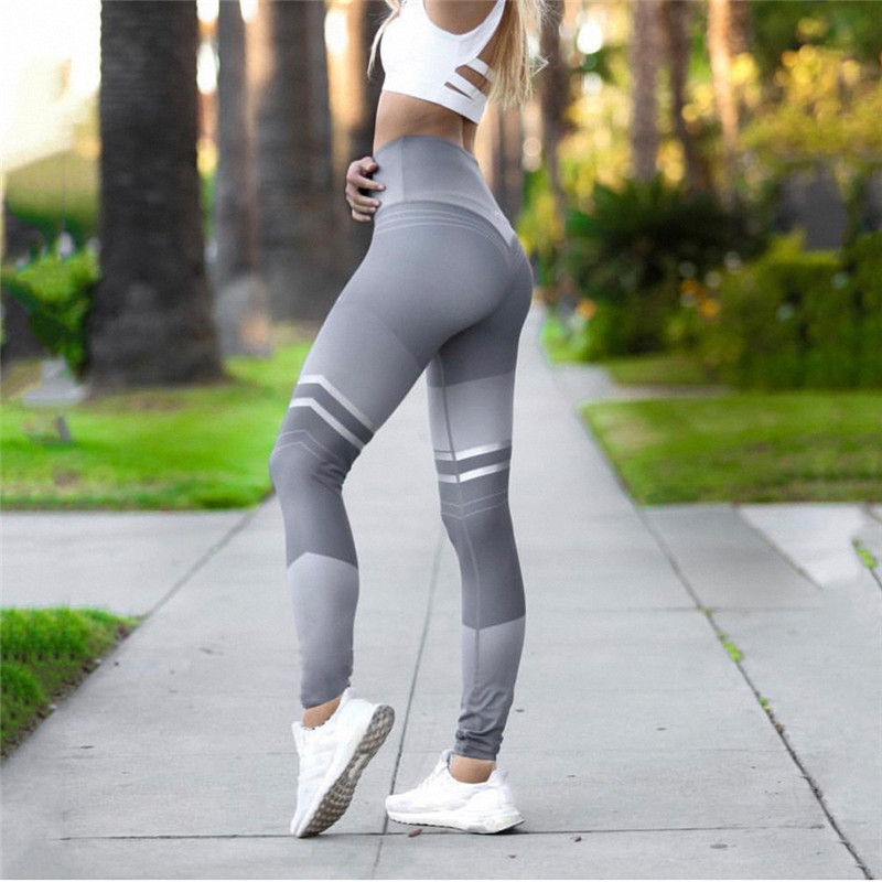 Women's Fitness Clothing, Mesh High Waist Leggings, Female Breathable Patchwork Sportswear 14