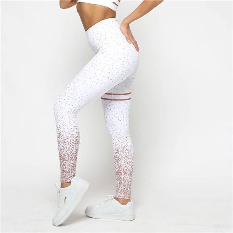 New Stretch Bronzing Print Leggings, Women Workout Leggings, High Waist Pants 5